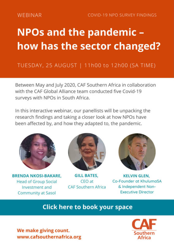 Webinar: NPOs and the pandemic – how has the sector changed? 2